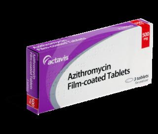 Azitromycine kopen - achterkant verpakking